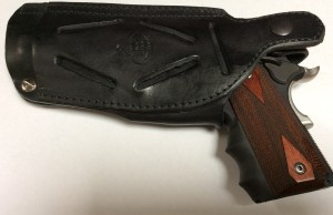Crossdraw, SOB, or hip carry leather holster for most 1911s