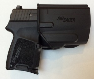 Short Mag Installed in the P290. As small as you can get with the factory-provided holster.