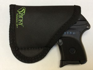 The SM-3 Sticky Holster provides a looser fit. But does allow for an easy grasp of the grip. With the LaserLyte in place, the fit is snug enough that the LCP does not float around.