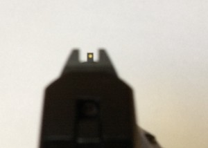 A view through the greatly improved LCP Custom Sights