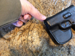 A little pinch formed the extra material into a nice pocket for the front sight.