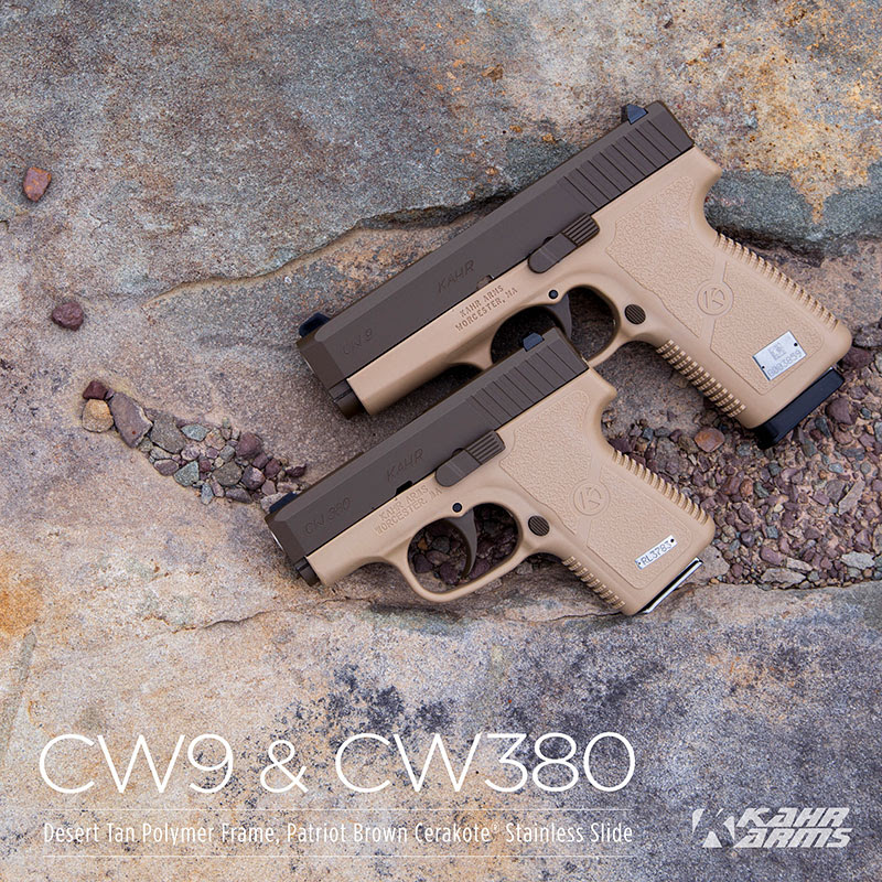 Kahr Releases the CW9 and CW380 Patriot Brown Finish